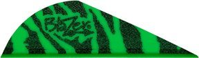 Bohning Blazer Tiger Archery Vane (100-Pack), Green