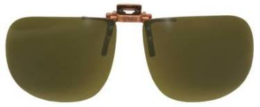 Polarized Bronze Metal Clip On Flip Up Brown Sunglass Lenses, Large Square, 64mm Wide X 56mm High, 147mm Wide with Bridge