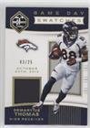 #9: Demaryius Thomas #/25 (Football Card) 2017 Panini Limited - Game Day Swatches - Prime #GDS-DT