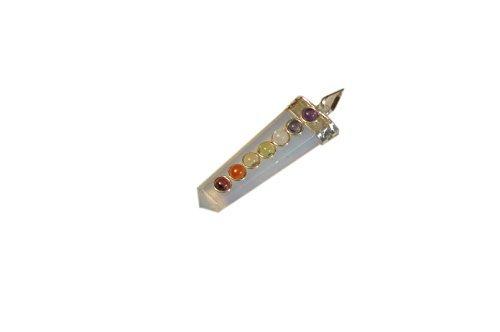 Jet Opalite Flat Chakra Pendant 2 inch approx. A++ Top Grade Jet International Healing Spiritual Divine India Crystal (Aromatherapy Wand Pendant)