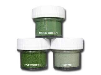 Petal Dust Set of 3 Moss Green/Evergreen / Thyme by PETAL CRAFTS