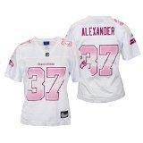 Womens Nfl Fashion Jersey - Seattle Seahawks Shaun Alexander #37 NFL Womens Fashion Jersey, White (Medium)