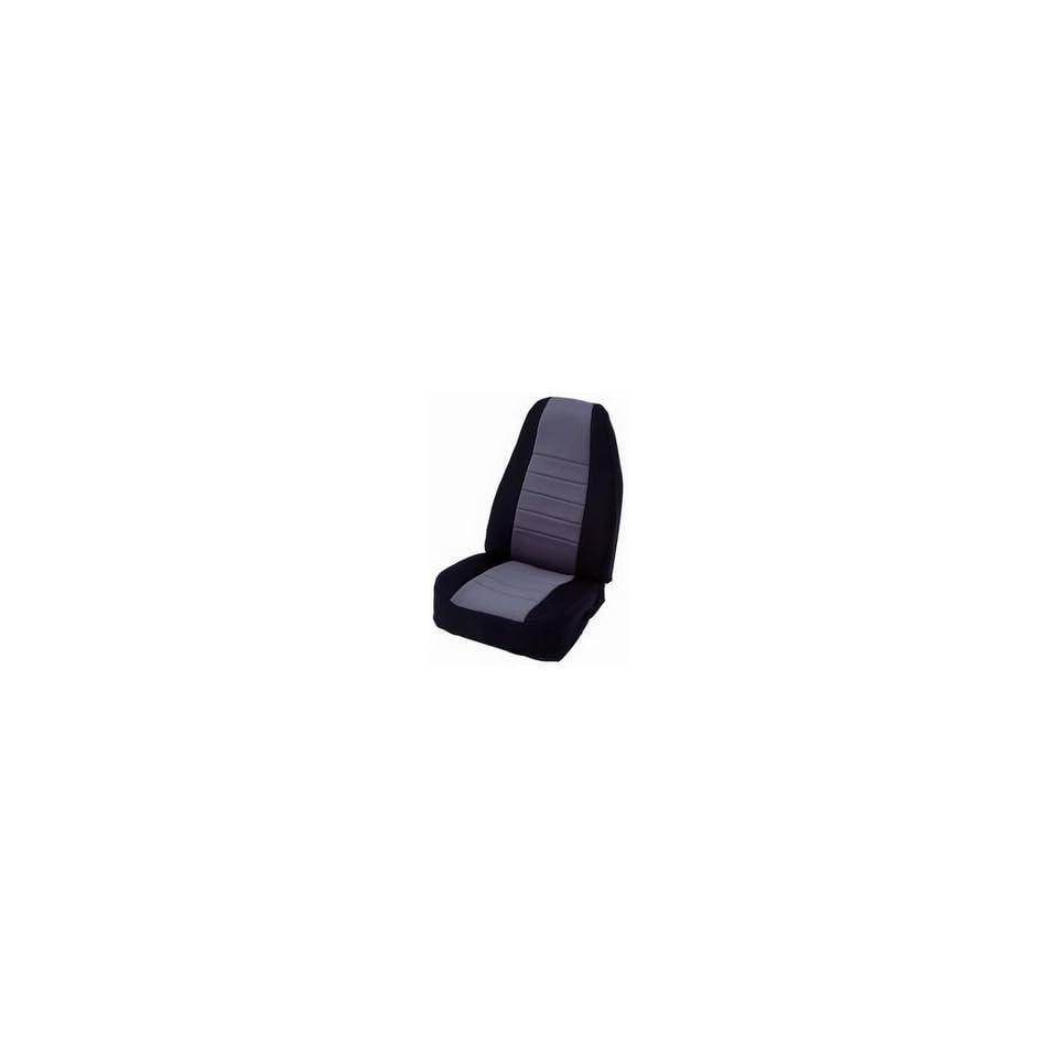 Smittybilt 47522 Black/Charcoal Front Center Neoprene Seat Cover, Pair