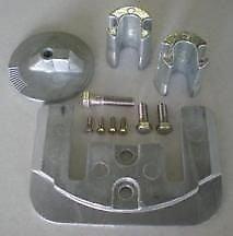 Mercruiser Outdrive Anode Kit - Tecnoseal Anode Kit w/Hardware - Mercury Bravo 2-3 - Aluminum - 1 Year Direct Manufacturer Warranty