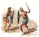 Gladiator hoplomachus BULLYLAND 56372 importado de Alemania