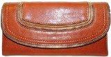 New Michael Kors Naomi Flap Leather Wallet Walnut by Michael Kors