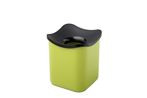 Rosti Mepal 108552091200-Abfalleimer Tisch Cube Melamin Zitrone 12,0x 12,0x 13,6cm