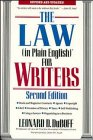 The Law (in Plain English) for Writers, Leonard D. DuBoff, 0471536156