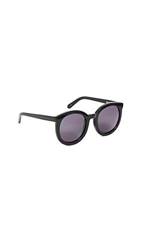 Karen Walker Women's Super Duper Strength Sunglasses, Black, One - One Karen Walker