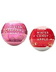 Bath and Body Works 2 Pack Twisted Peppermint and Winter Candy Apple Bath Fizzy 4.6 Oz. from Bath & Body Works