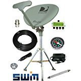 DirecTV SWM SL5S Portable Satellite RV Dish Kit Camping Tailgating with Tripod SWiM - Directv Hdtv