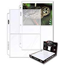 "BCW Protective Pages Crystal Clear for Photographs or Postcards | 2-Pocket Page | Pocket Size 5 ½"" x 7 ⅛""  