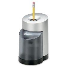 SKILCRAFT 7520-01-241-4229 Electric Pencil Sharpener, 5-3/4 x 3-3/4 x 6-11/32 Inch Height, Black/Silver