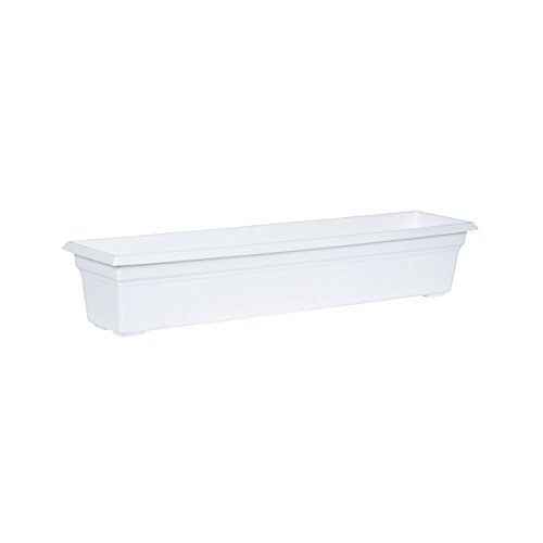(Countryside Flower Box Planter, White, 36-Inch)