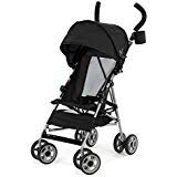 Kolcraft Cloud Umbrella Stroller, Black Travel Umbrella Stroller Comes with an Extended Sun Canopy and Rear Hood to Offer More Protection