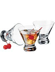 Libbey Cosmopolitan Cocktail/Martini Glasses, 8 Ounce, Clear, Set of 8