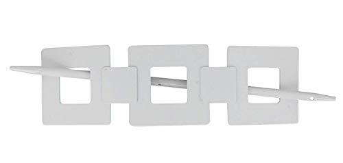 EVIDECO L2479102 Metal Square Tieback Seventies-Shiny White