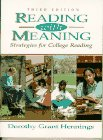 Reading with Meaning : Strategies for College Reading, Hennings, Dorothy Grant, 0132058731