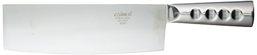 Winco KC-501 Chinese Cleaver with Steel Handle and 8-Inch by 2.25-Inch Blade