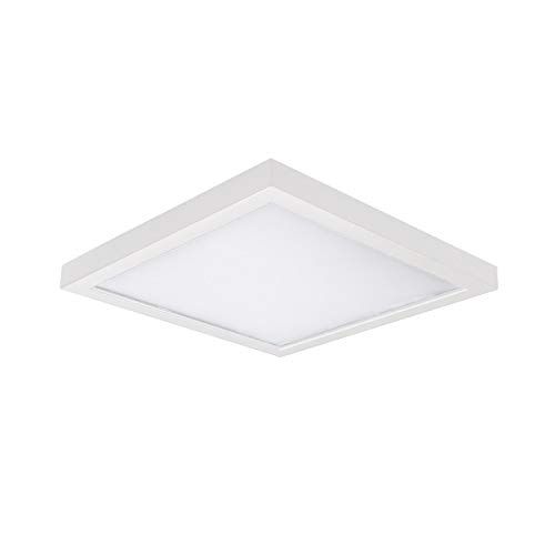 WAC Lighting FM-05SQ-930-WT Square Energy Star LED Flush Mount (Wall Three Light Mount Ada)