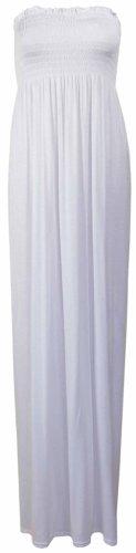 Strapless Bandeau Maxi Dress PurpleHanger White Tube Women's Boob v6Iqa7n
