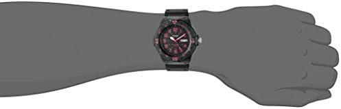 Casio Men's Classic Quartz Resin Automatic Watch, Color:Black (Model: MRW200H-4CV)