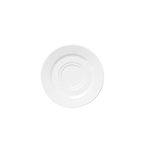 Elite Global Solutions D658-W Double Well Saucer, 6 1/2