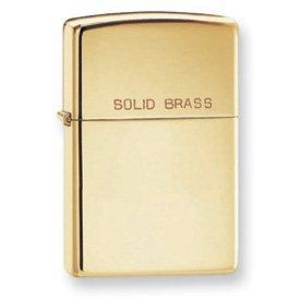 High Polish Solid Brass Lighter - Zippo Lighter Solid Brass High Polish