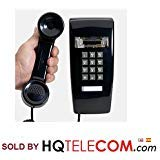 (Industrial Wall Phone with Dialpad & Wallplate - BLACK by HQTelecom)
