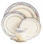 China Plate Ivory Salad Banded - Lenox Charleston Platinum Banded Ivory China Salad Plate