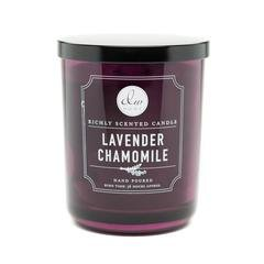 Lavender Garden Candle (DW Home Decoware 1 X Decoware Lavender Chamomile 2 Wick Candle in Glass Container)