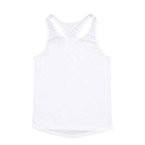 TheFound Mens Y Back Stringer Bodybuilding Tank Top Gym Vest (L, White)