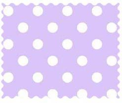(SheetWorld 100% Cotton Percale Fabric by The Yard, Pastel Lavender Polka Dots Woven, 36 x 44)