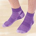 Maggie's Functional Organics Socks Purple Urban Trail Ankle Size 10-13 (a)