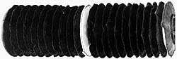 63414866 Made in USA - 24 Inch Long, 0.018 Inch Thick, Nylon Stitched Bellow Thick Nylon Coupler