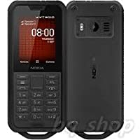 Nokia 800 Tough Feature Phone, Dual SIM, 512 MB RAM, 4G LTE, Black
