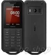 Nokia 16CNTBW1A06 800 Tough Dual Sim Feature Phone, 4 GB ROM, 512 MB RAM, 4G LTE - Black