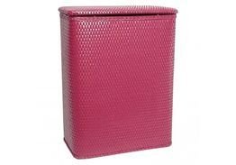 Redmon Chelsea Collection Decorator Wicker Hamper Raspberry