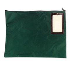 * Cash Transit Sack, Nylon, 18 x 14, Dark Green