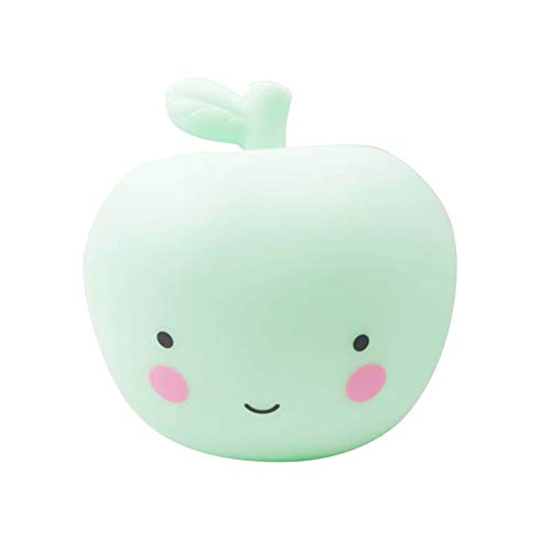 super1798 Cute Apple LED Night Light Kids Children Bedroom Home Lamp Holiday Decoration - Green ()