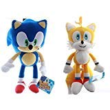 Sonic the Hedgehog Sonic and Tails Plush SET Toy -