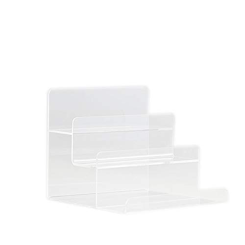 3-Tier Acrylic Wallet Display Stand Holder Acrylic Jewelry Display Riser Shelf Showcase Fixtures