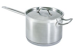 7.6 QT COMMERCIAL STAINLESS STEEL SAUCE PAN – NSF