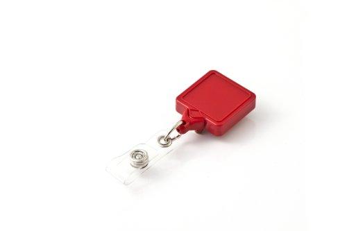 Mini Retractor Clip (KEY-BAK MINI-BAK Square Twist Free Retractable Badge Holder with 36