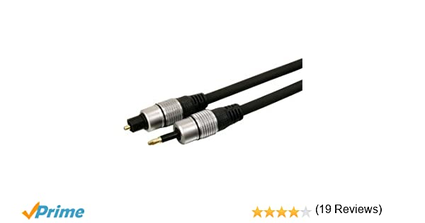 HQ HQSS4624/2.5 - Cable óptico de 3.5 mm (2.5 metros), negro: Amazon.es: Electrónica