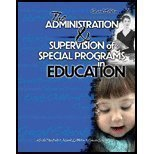 THE ADMINISTRATION AND SUPERVISION OF SPECIAL PROGRAMS IN EDUCATION