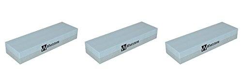 Whetstone Cutlery 20-10960 Knife Sharpening Stone-Dual Sided 400/1000 Grit Water Stone-Sharpener and Polishing Tool for Kitchen, Hunting and Pocket Knives or Blades by Whetstone (3-(Pack)) by Whetstone Cutlery (Image #2)