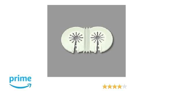 Recoval Floron embellecedor radiador Standard para 2 Tubo Blanco (Pack 10uds): Amazon.es: Hogar