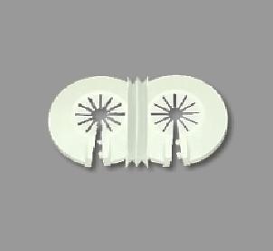 Floron embellecedor radiador standard para 2 tubo blanco (pack 10uds)