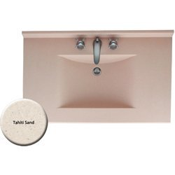 (Swanstone Contour 49 in. W Solid Surface Vanity Top in Tahiti Sand witth Single Bowl)